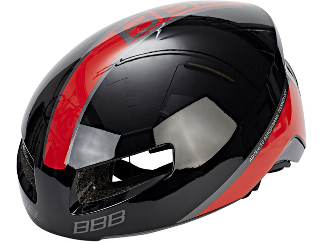 BBB Tithon BHE-08 Kask rowerowy, glossy black/red